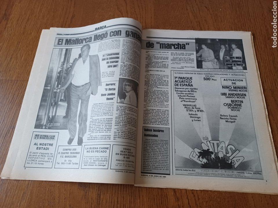 Coleccionismo deportivo: SPORT 9 JUNIO 1984.COPA DE LA LIGA. BARCA- MALLORCA MARADONA JUEGA SUS ÚLTIMAS CARTAS . ARKONADA - Foto 5 - 253855720