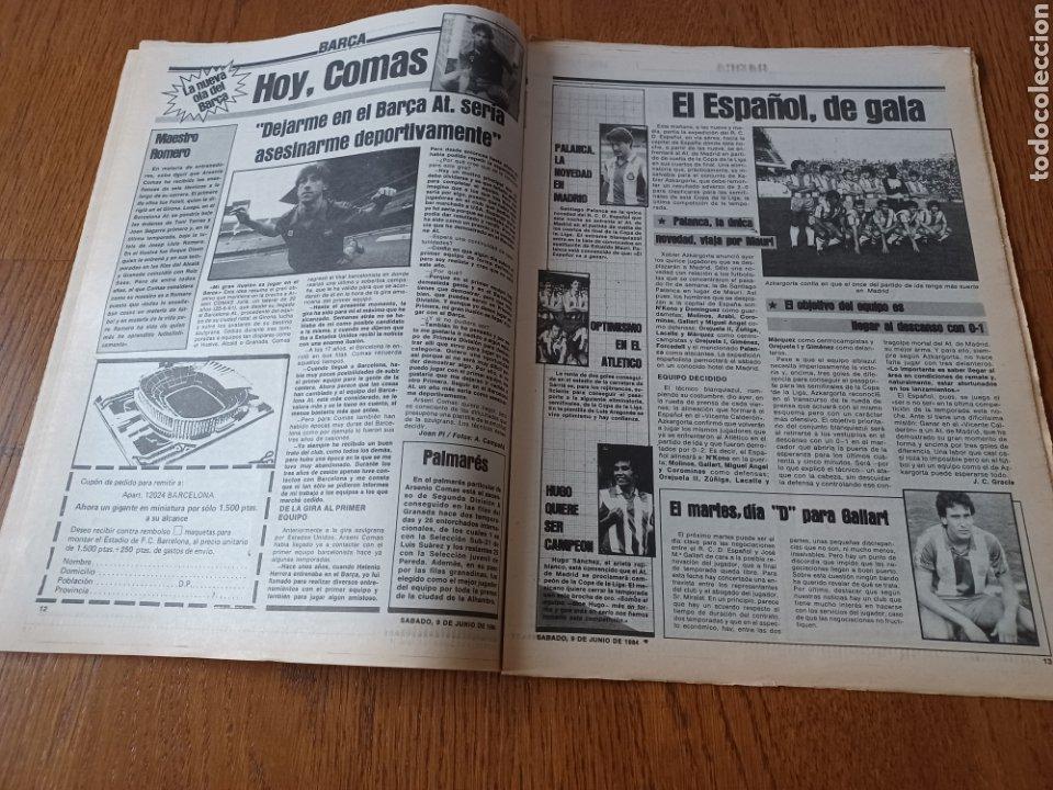 Coleccionismo deportivo: SPORT 9 JUNIO 1984.COPA DE LA LIGA. BARCA- MALLORCA MARADONA JUEGA SUS ÚLTIMAS CARTAS . ARKONADA - Foto 7 - 253855720