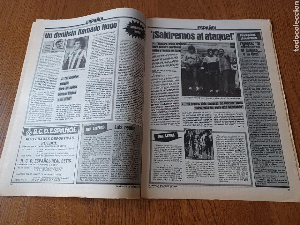 Coleccionismo deportivo: SPORT 9 JUNIO 1984.COPA DE LA LIGA. BARCA- MALLORCA MARADONA JUEGA SUS ÚLTIMAS CARTAS . ARKONADA - Foto 8 - 253855720