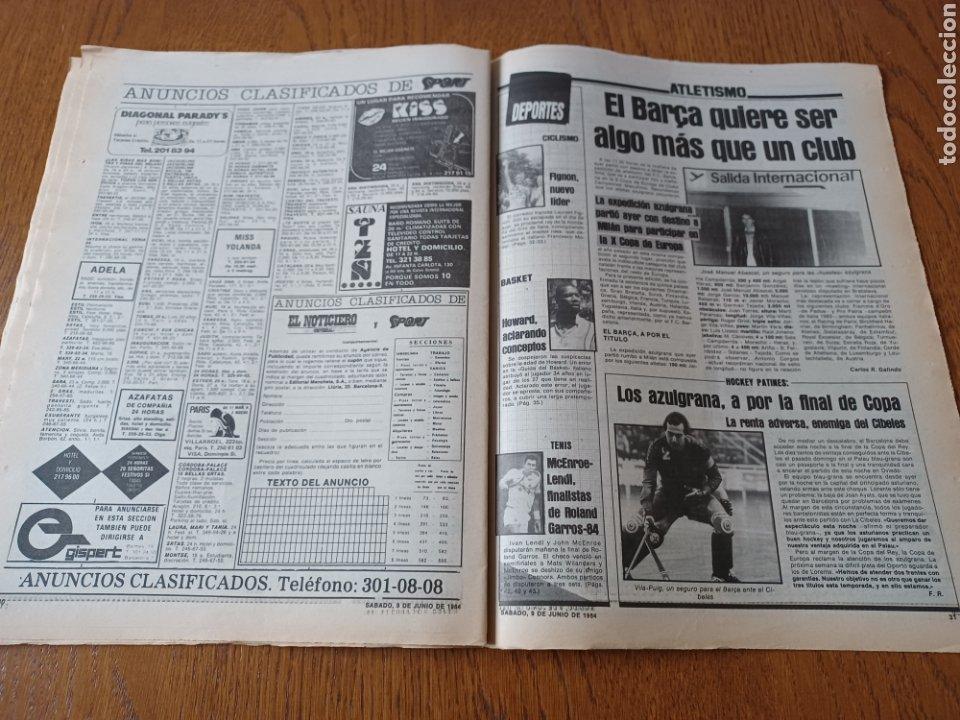 Coleccionismo deportivo: SPORT 9 JUNIO 1984.COPA DE LA LIGA. BARCA- MALLORCA MARADONA JUEGA SUS ÚLTIMAS CARTAS . ARKONADA - Foto 12 - 253855720