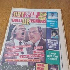 Coleccionismo deportivo: SPORT 9 JUNIO 1984.COPA DE LA LIGA. BARCA- MALLORCA MARADONA JUEGA SUS ÚLTIMAS CARTAS . ARKONADA. Lote 253855720