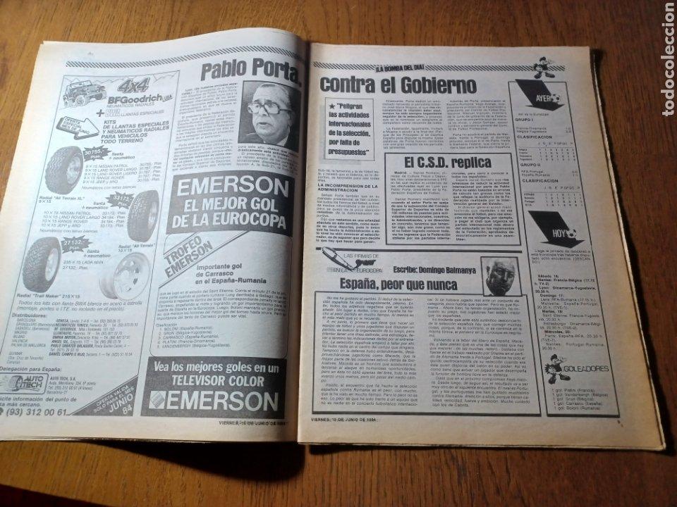 Coleccionismo deportivo: SPORT 15 JUNIO 1984. EUROCOPA , ESPAÑA 1 RUMANÍA 1 .CARRASCO SALVO EL HONOR. ALEMANIA 0 PORTUGAL 0 - Foto 5 - 253868030