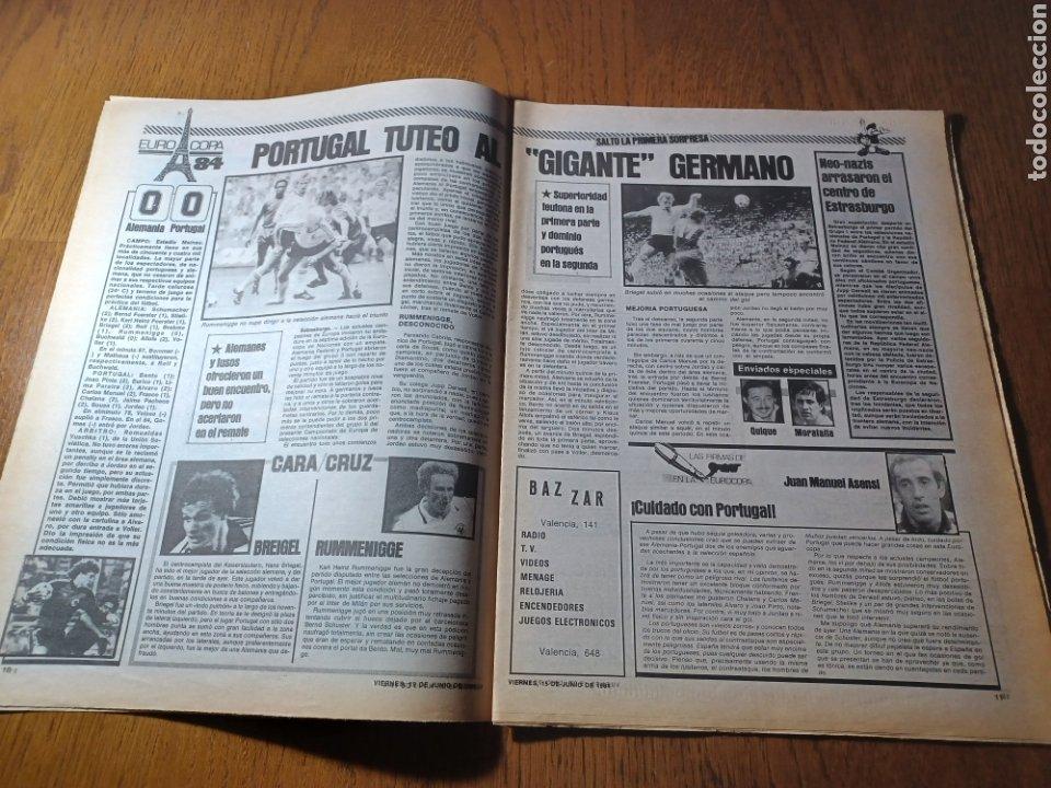 Coleccionismo deportivo: SPORT 15 JUNIO 1984. EUROCOPA , ESPAÑA 1 RUMANÍA 1 .CARRASCO SALVO EL HONOR. ALEMANIA 0 PORTUGAL 0 - Foto 6 - 253868030