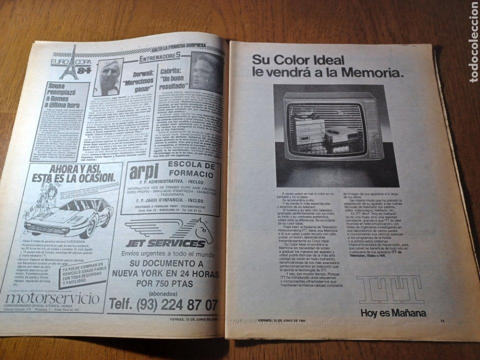 Coleccionismo deportivo: SPORT 15 JUNIO 1984. EUROCOPA , ESPAÑA 1 RUMANÍA 1 .CARRASCO SALVO EL HONOR. ALEMANIA 0 PORTUGAL 0 - Foto 7 - 253868030