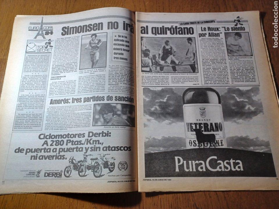 Coleccionismo deportivo: SPORT 15 JUNIO 1984. EUROCOPA , ESPAÑA 1 RUMANÍA 1 .CARRASCO SALVO EL HONOR. ALEMANIA 0 PORTUGAL 0 - Foto 8 - 253868030