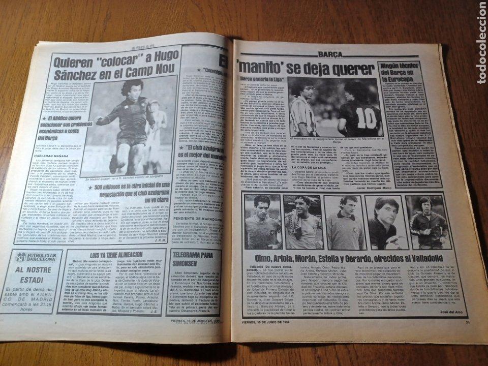 Coleccionismo deportivo: SPORT 15 JUNIO 1984. EUROCOPA , ESPAÑA 1 RUMANÍA 1 .CARRASCO SALVO EL HONOR. ALEMANIA 0 PORTUGAL 0 - Foto 11 - 253868030