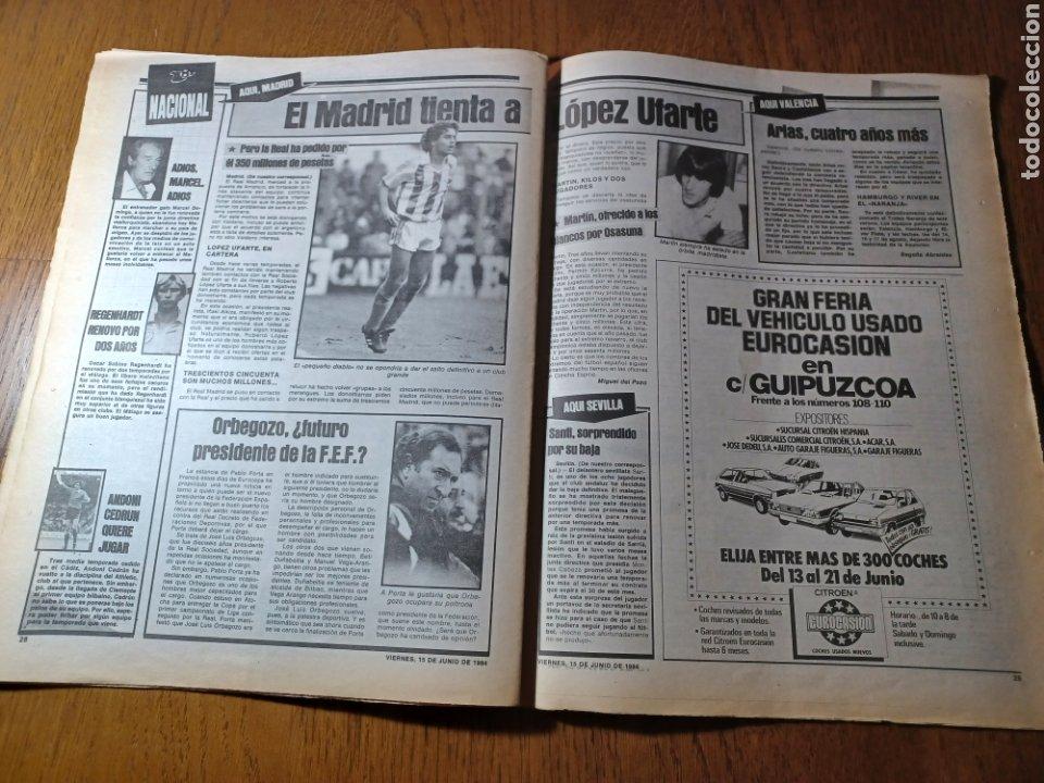 Coleccionismo deportivo: SPORT 15 JUNIO 1984. EUROCOPA , ESPAÑA 1 RUMANÍA 1 .CARRASCO SALVO EL HONOR. ALEMANIA 0 PORTUGAL 0 - Foto 12 - 253868030