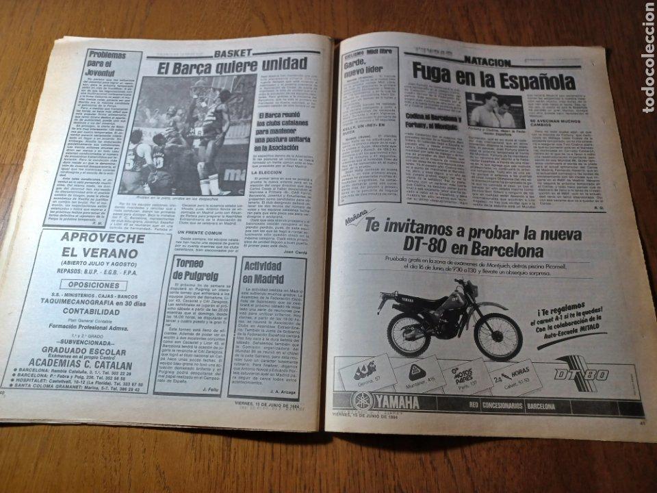 Coleccionismo deportivo: SPORT 15 JUNIO 1984. EUROCOPA , ESPAÑA 1 RUMANÍA 1 .CARRASCO SALVO EL HONOR. ALEMANIA 0 PORTUGAL 0 - Foto 14 - 253868030