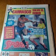 Coleccionismo deportivo: SPORT 15 JUNIO 1984. EUROCOPA , ESPAÑA 1 RUMANÍA 1 .CARRASCO SALVO EL HONOR. ALEMANIA 0 PORTUGAL 0. Lote 253868030