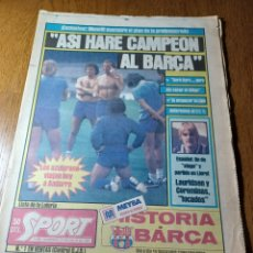 "Coleccionismo deportivo: SPORT 31 JULIO 1983 MENOTTI "" ASI HARÉ CAMPEÓN AL BARCA . SUPLEMENTO SEMANAL SPORT DOMINGO N°23. Lote 253904610"