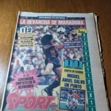 Coleccionismo deportivo: SPORT 30 ENERO 1984.ATH.BILBAO 1 BARCA 2 . LA REVANCHA DE MARADONA. DIEGO MARCO LOS DOS GOLES.. Lote 253907775