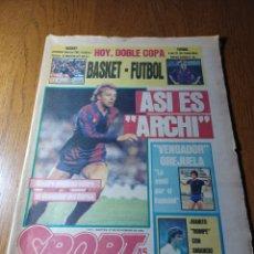 """Coleccionismo deportivo: SPORT 27 NOVIEMBRE 1984.ASI ES """" ARCHI """" COPA BARCA - LLEIDA (1-3). Lote 253909475"""