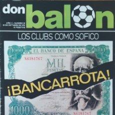 Coleccionismo deportivo: DON BALON N.º 55 - 20 OCTUBRE 1976 - TODO SOBRE JUANITO A TODO COLOR. Lote 253974400