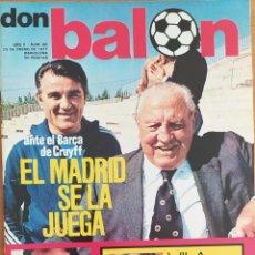 Coleccionismo deportivo: DON BALON N.º 68 - 25 ENERO 1977 -IDIGORAS -SATRUSTEGUI - LOPEZ URIARTE- GARATE. Lote 253994735