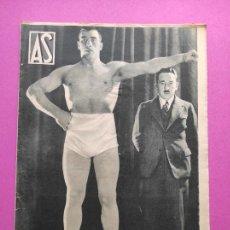 Coleccionismo deportivo: PERIODICO AS Nº 57 1933 ATHLETIC CLUB BILBAO CAMPEON COPA 33 - VUELTA CICLISTA MADRID - WIMBLEDON. Lote 254141155
