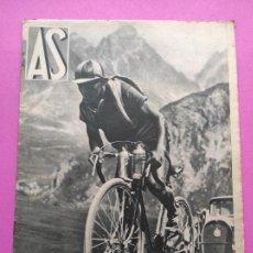 Coleccionismo deportivo: PERIODICO AS Nº 58 1933 VICENTE TRUEBA TOUR FRANCIA 33 - ATHLETIC CLUB BILBAO CAMPEON COPA ESPAÑA. Lote 254141425