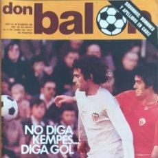 Coleccionismo deportivo: DON BALON N.º 86 - 30 MAYO AL 5 JUNIO 1977 - LIVERPOOL CAMPEON EUROPA - KEMPES - SANTILLANA. Lote 254169755