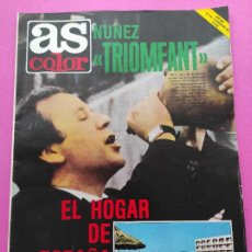 Coleccionismo deportivo: REVISTA AS COLOR Nº 533 1981 NUÑEZ - KURT WELTZ VALENCIA CF - PAPIK MONT BLANC. Lote 254178610