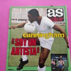 Coleccionismo deportivo: REVISTA AS COLOR Nº 536 1981 POSTER HUGO SANCHEZ ATLETICO - CUNNINGHAM REAL MADRID - DIAZ MIGUEL. Lote 254179205