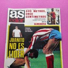 Coleccionismo deportivo: REVISTA AS COLOR Nº 541 1981 ISIDRO - JUANITO REAL MADRID - SEMENOVA. Lote 254180425