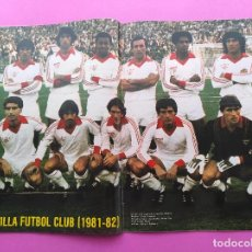 Coleccionismo deportivo: REVISTA AS COLOR Nº 550 POSTER SEVILLA FC 81/82 - ALINEACION TEMPORADA 1981/1982. Lote 254181455