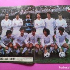 Coleccionismo deportivo: REVISTA AS COLOR Nº 551 POSTER REAL MADRID 81/82 - ALINEACION TEMPORADA 1981/1982. Lote 254181550