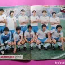 Coleccionismo deportivo: REVISTA AS COLOR Nº 552 POSTER REAL ZARAGOZA 81/82 - ALINEACION TEMPORADA 1981/1982. Lote 254181630
