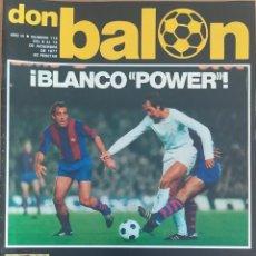 Coleccionismo deportivo: DON BALON N.º 113 - 8 AL 14 DICIEMBRE 1977 - LA BATALLA DE BELGRADO- ESPAÑA YUGOSLAVIA ELIMINATORIAS. Lote 254220585