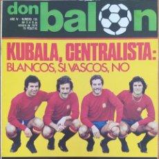 Coleccionismo deportivo: DON BALON N.º 156 - 3 AL 9 OCTUBRE 1978 - IDIGORAS - MIGUELI - SANTILLANA- RICARDO TORMO. Lote 254337275
