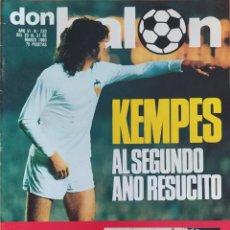 Coleccionismo deportivo: DON BALON N.º 233 - 25 AL 31 MARZO 1980 - VALENCIA CF BARÇA - REAL MADRID CELTIC - RECOPA. Lote 254474515
