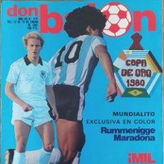 Coleccionismo deportivo: DON BALON N.º 275 - 13 AL 19 ENERO 1981 - MUNDIALITO URUGUAY 1980 - MARADONA - RUMMENIGGE. Lote 254607165