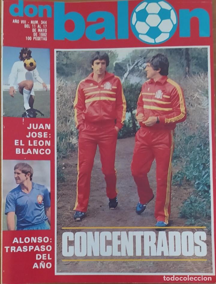 DON BALON N.º 344 - 11 AL 17 MAYO 1982 - ESPAÑA MUNDIAL 82 - STANDARD LIEJA (Coleccionismo Deportivo - Revistas y Periódicos - Don Balón)
