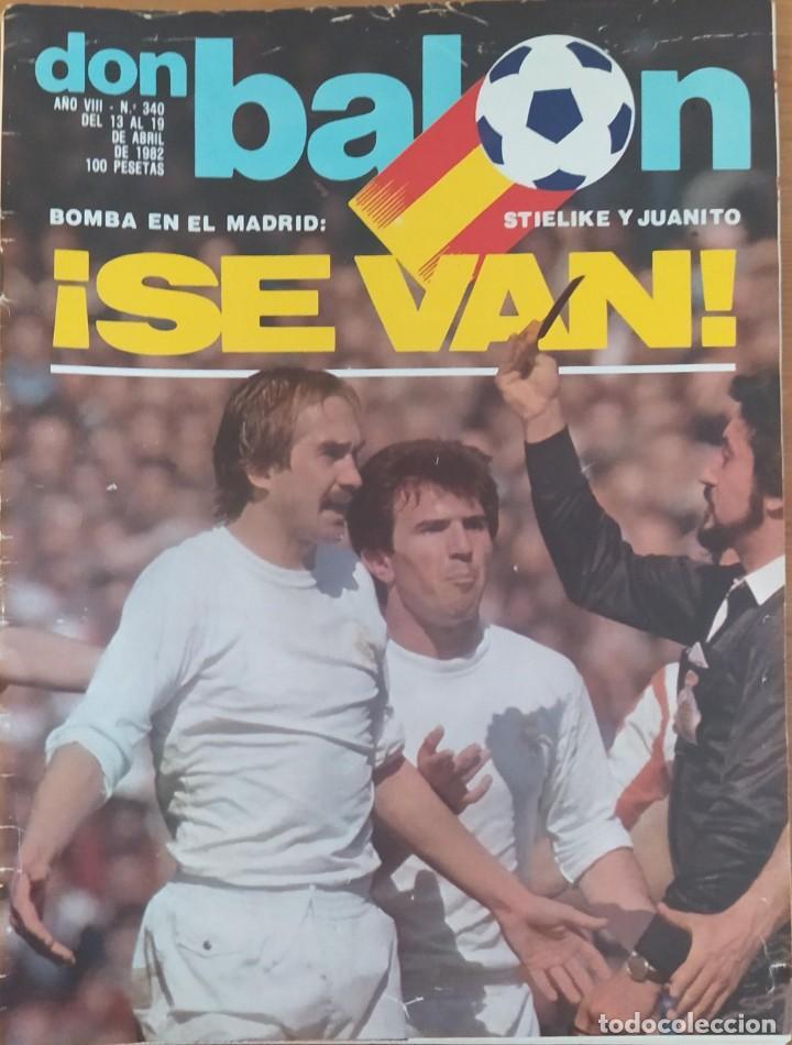 DON BALON N.º 340 - 13 AL 19 ABRIL 1982 - ESPECIAL LOPEZ UFARTE A COLOR - OSASUNA (Coleccionismo Deportivo - Revistas y Periódicos - Don Balón)