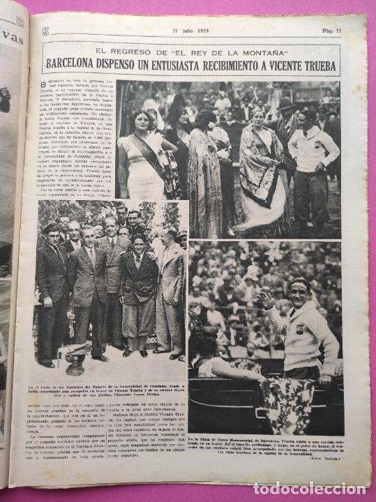 Coleccionismo deportivo: PERIODICO AS Nº 61 1933 VICENTE TRUEBA REY MONTAÑA TOUR FRANCIA 33 - CLUB IZARRA EIBAR - COPA DAVIS - Foto 3 - 254859350