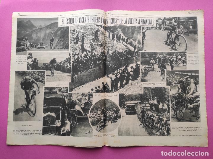 Coleccionismo deportivo: PERIODICO AS Nº 61 1933 VICENTE TRUEBA REY MONTAÑA TOUR FRANCIA 33 - CLUB IZARRA EIBAR - COPA DAVIS - Foto 4 - 254859350