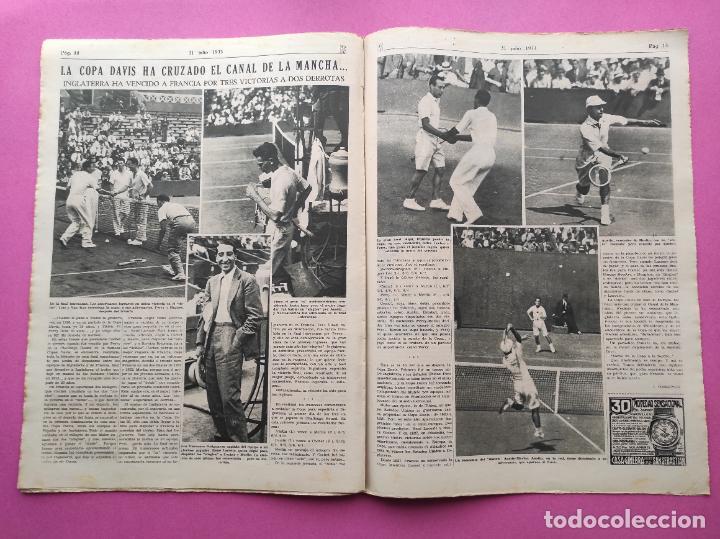 Coleccionismo deportivo: PERIODICO AS Nº 61 1933 VICENTE TRUEBA REY MONTAÑA TOUR FRANCIA 33 - CLUB IZARRA EIBAR - COPA DAVIS - Foto 5 - 254859350