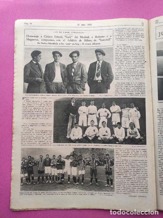 Coleccionismo deportivo: PERIODICO AS Nº 61 1933 VICENTE TRUEBA REY MONTAÑA TOUR FRANCIA 33 - CLUB IZARRA EIBAR - COPA DAVIS - Foto 6 - 254859350