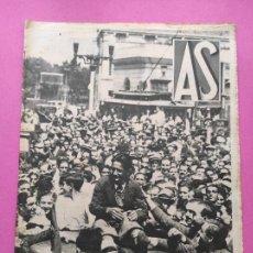 Coleccionismo deportivo: PERIODICO AS Nº 61 1933 VICENTE TRUEBA REY MONTAÑA TOUR FRANCIA 33 - CLUB IZARRA EIBAR - COPA DAVIS. Lote 254859350