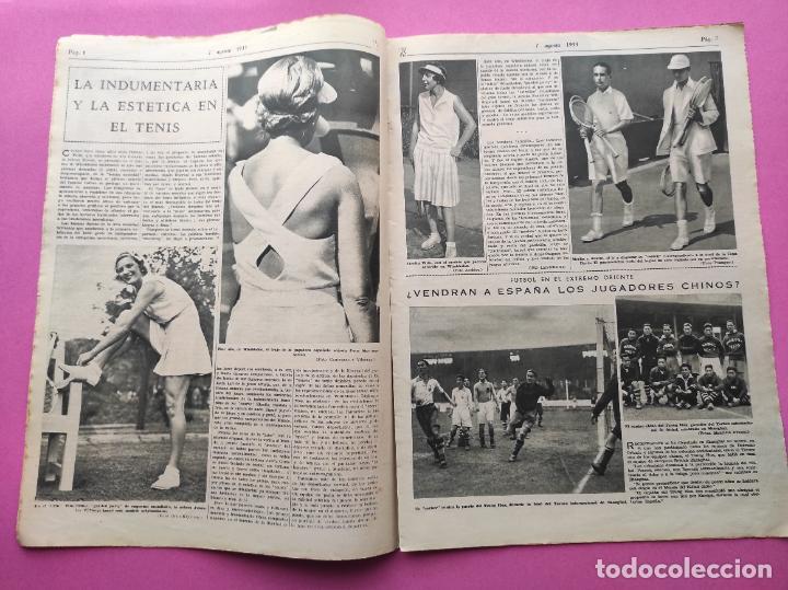 Coleccionismo deportivo: PERIODICO AS Nº 62 1933 CLUB PROMONTORIO SANTANDER - COPA DAVIS ESPAÑA - DIA DEL SOL ALEMANIA - Foto 3 - 254860140