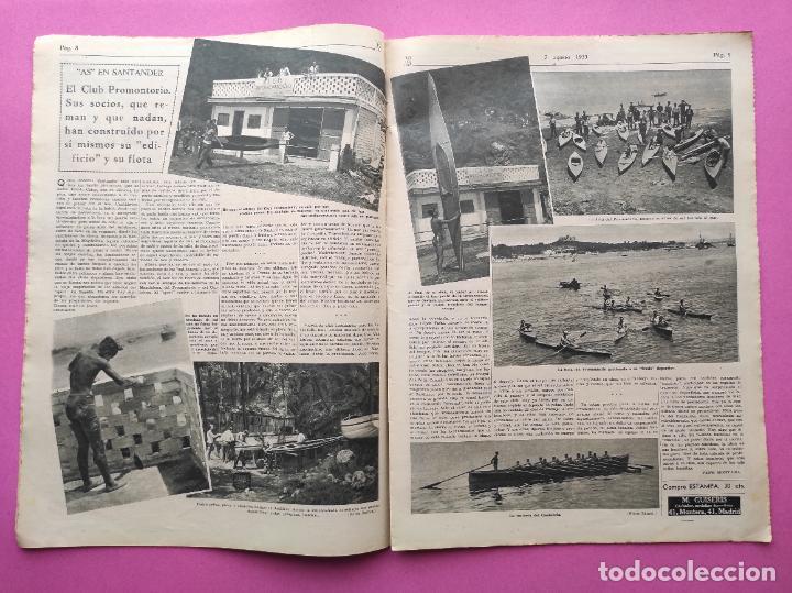 Coleccionismo deportivo: PERIODICO AS Nº 62 1933 CLUB PROMONTORIO SANTANDER - COPA DAVIS ESPAÑA - DIA DEL SOL ALEMANIA - Foto 4 - 254860140