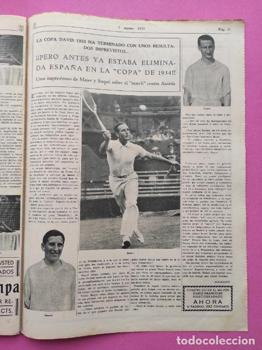 Coleccionismo deportivo: PERIODICO AS Nº 62 1933 CLUB PROMONTORIO SANTANDER - COPA DAVIS ESPAÑA - DIA DEL SOL ALEMANIA - Foto 5 - 254860140