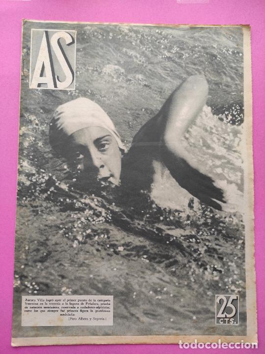 PERIODICO AS Nº 62 1933 CLUB PROMONTORIO SANTANDER - COPA DAVIS ESPAÑA - DIA DEL SOL ALEMANIA (Coleccionismo Deportivo - Revistas y Periódicos - As)