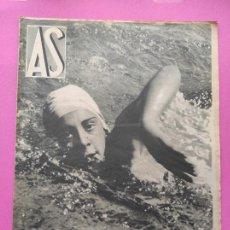 Coleccionismo deportivo: PERIODICO AS Nº 62 1933 CLUB PROMONTORIO SANTANDER - COPA DAVIS ESPAÑA - DIA DEL SOL ALEMANIA. Lote 254860140