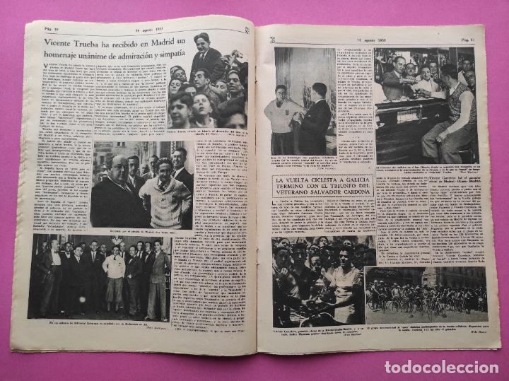 Coleccionismo deportivo: PERIODICO AS Nº 63 1933 CAMPEONATO ESPAÑA ATLETISMO - CICLISMO VUELTA GALICIA - CASTILLA NATACION - Foto 3 - 254860275