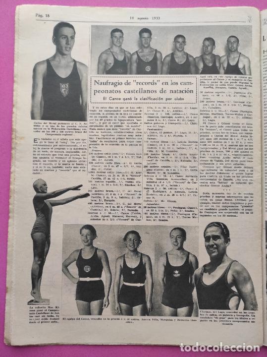 Coleccionismo deportivo: PERIODICO AS Nº 63 1933 CAMPEONATO ESPAÑA ATLETISMO - CICLISMO VUELTA GALICIA - CASTILLA NATACION - Foto 4 - 254860275