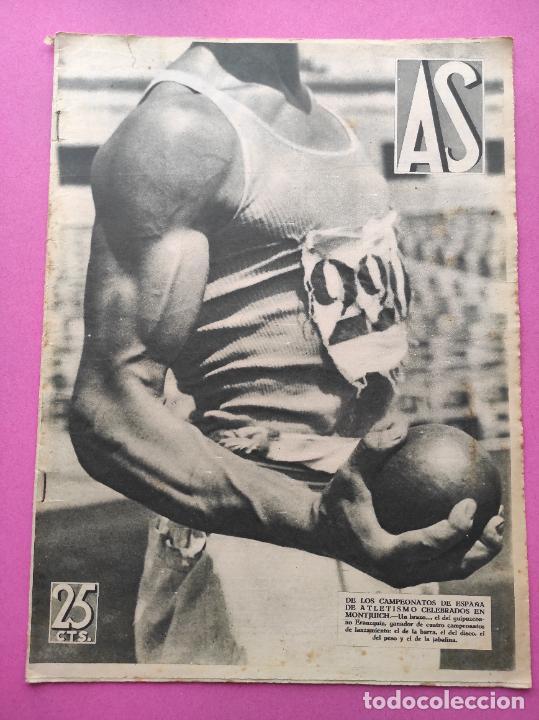 PERIODICO AS Nº 63 1933 CAMPEONATO ESPAÑA ATLETISMO - CICLISMO VUELTA GALICIA - CASTILLA NATACION (Coleccionismo Deportivo - Revistas y Periódicos - As)