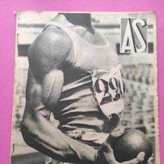 Coleccionismo deportivo: PERIODICO AS Nº 63 1933 CAMPEONATO ESPAÑA ATLETISMO - CICLISMO VUELTA GALICIA - CASTILLA NATACION. Lote 254860275