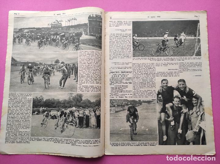Coleccionismo deportivo: PERIODICO AS Nº 64 1933 SEVILLA FC - CADIZ MIRANDILLA - TRAINERAS CANTABRICO - ATHELTIC CLUB BILBAO - Foto 3 - 254860860