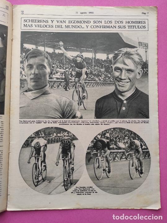 Coleccionismo deportivo: PERIODICO AS Nº 64 1933 SEVILLA FC - CADIZ MIRANDILLA - TRAINERAS CANTABRICO - ATHELTIC CLUB BILBAO - Foto 4 - 254860860