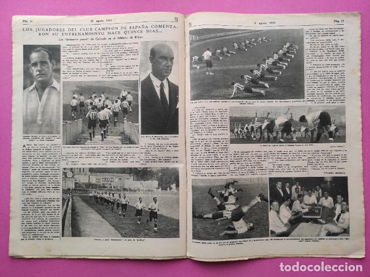 Coleccionismo deportivo: PERIODICO AS Nº 64 1933 SEVILLA FC - CADIZ MIRANDILLA - TRAINERAS CANTABRICO - ATHELTIC CLUB BILBAO - Foto 6 - 254860860